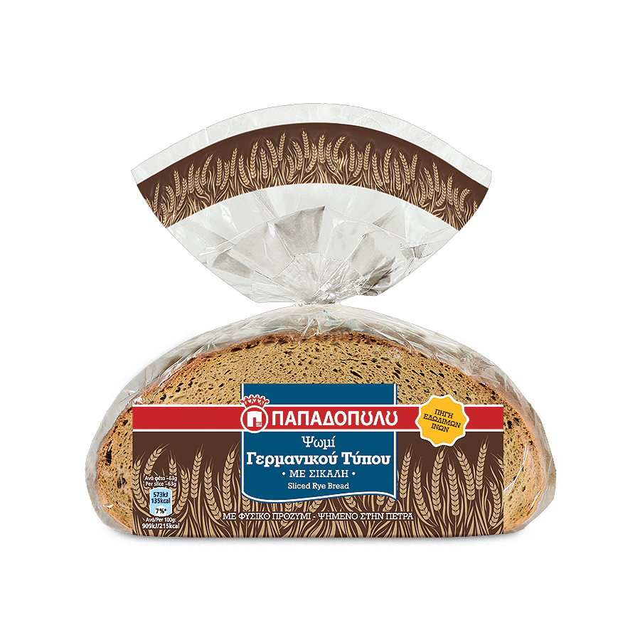 Image of German Type sliced bread with rye