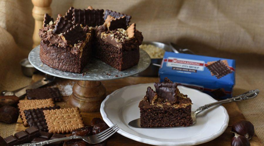 Top slider image for Κέικ κινόας με frosting κάστανο και Πτι Μπερ με αλεύρι ολικής & μαύρη σοκολάτα