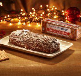 image for Χριστουγεννιάτικος κορμός με σοκολάτα, καρύδια & Πτι Μπερ Παπαδοπούλου