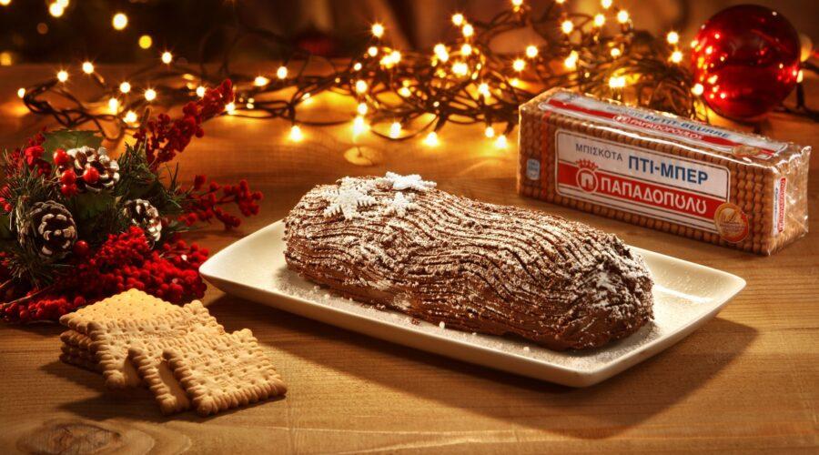 Top slider image for Χριστουγεννιάτικος κορμός με σοκολάτα, καρύδια & Πτι Μπερ Παπαδοπούλου