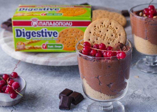 image for Μους σοκολάτας με φιστικοβούτυρο και Digestive χωρίς ζάχαρη