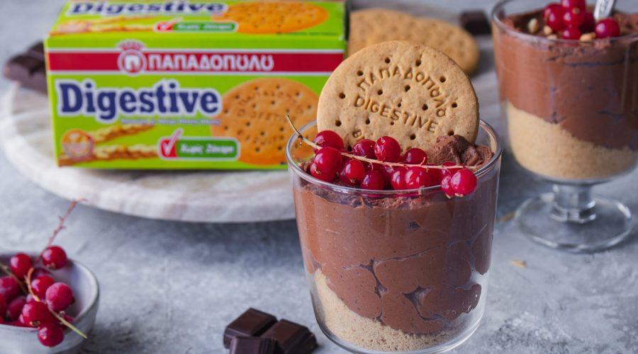 Top slider image for Μους σοκολάτας με φιστικοβούτυρο και Digestive χωρίς ζάχαρη