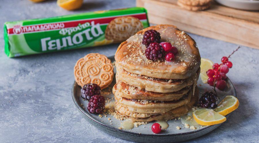 Top slider image for Pancakes με ΦρουτοΓεμιστά Λεμόνι και λευκή σοκολάτα