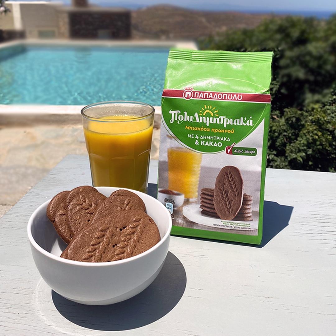 Image for ΠολυΔημητριακά Μπισκότα Πρωινού χωρίς ζάχαρη και χυμός: τέλειο πρωινό!