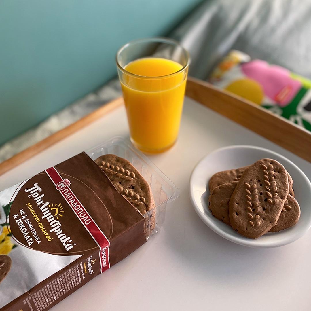 Image for Πρωινό στο κρεβάτι με ΠολυΔημητριακά μπισκότα με σοκολάτα!