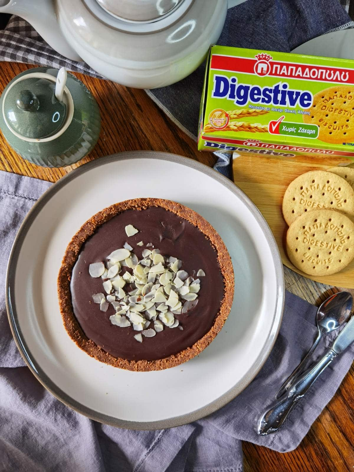 Featured image for Τάρτα σοκολάτας με Digestive Παπαδοπούλου χωρίς ζάχαρη