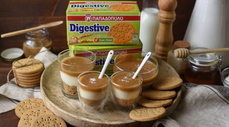 Top slider image for Cheesecake cups με healthy salted caramel και Digestive Παπαδοπούλου χωρίς ζάχαρη
