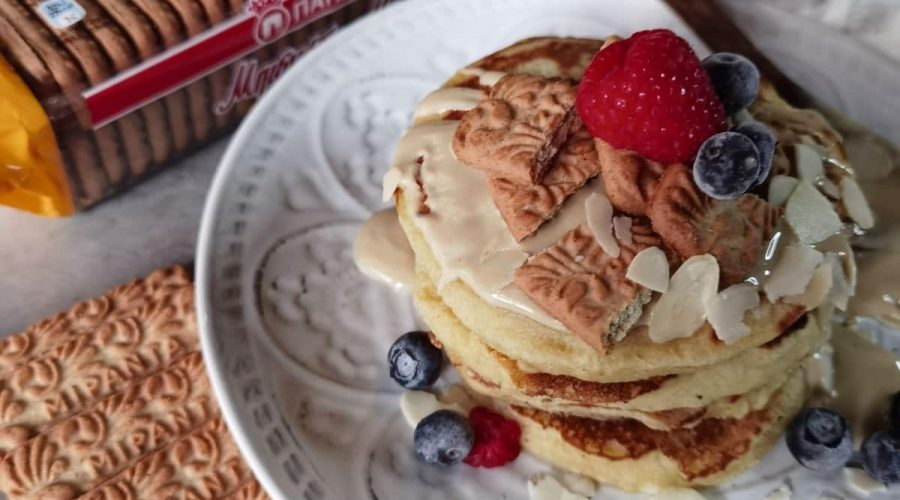 Top slider image for Pancakes με τριμμένα μπισκότα ΜΙΡΑΝΤΑ Ολικής Παπαδόπουλου