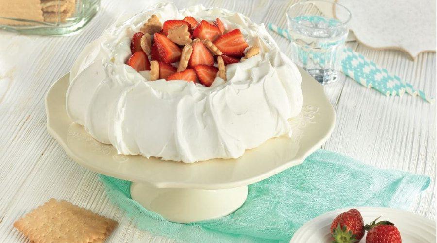 Top slider image for Πάβλοβα με φράουλες και Πτι Μπερ Παπαδοπούλου