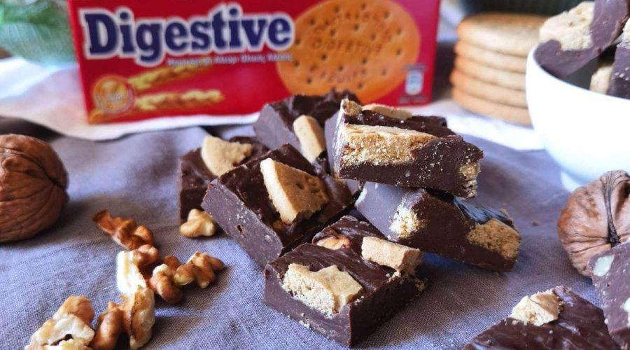 Top slider image for Σοκολατάκια με κουβερτούρα και μπισκότα Digestive Παπαδοπούλου