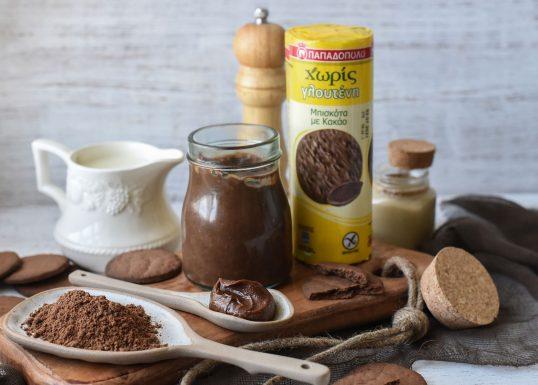 image for Spread μπισκότο-ταχίνι με Μπισκότα Παπαδοπούλου με Κακάο Χωρίς Γλουτένη