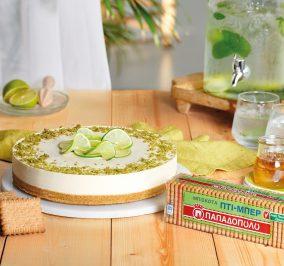 Banner for Cheesecake με λάιμ, μέλι και Πτι Μπερ χωρίς προσθήκη ζάχαρης