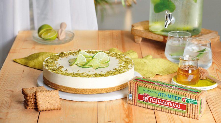 Top slider image for Cheesecake με λάιμ, μέλι και Πτι Μπερ χωρίς προσθήκη ζάχαρης