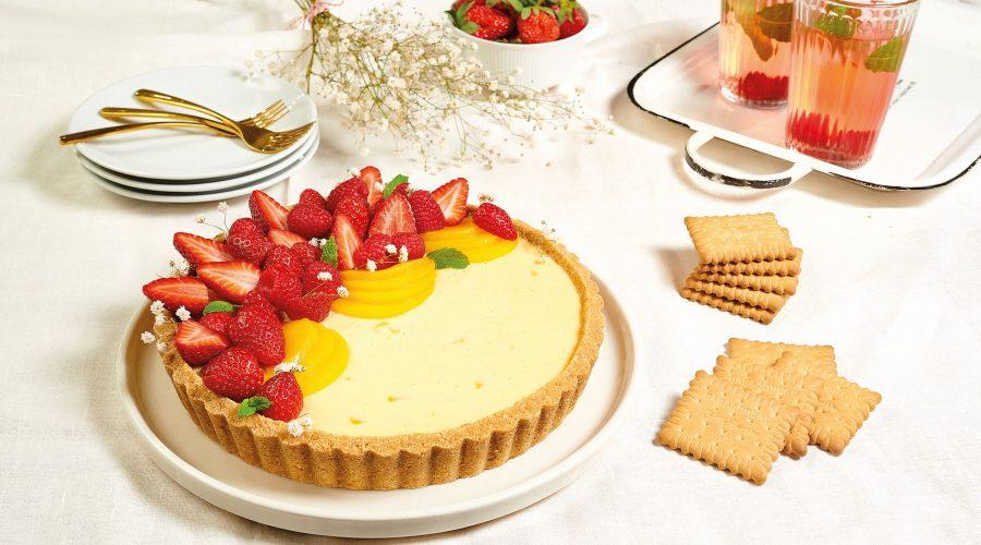 Top slider image for Τάρτα με ροδάκινα, κόκκινα φρούτα & Πτι Μπερ