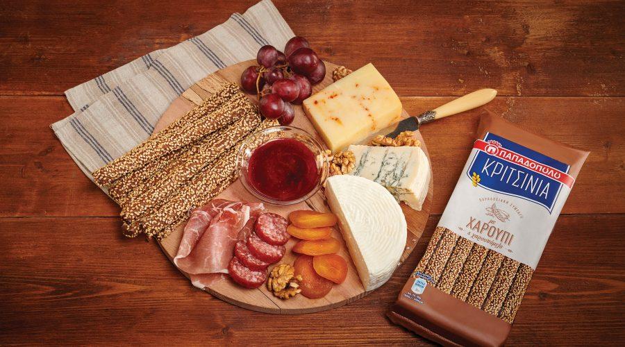 Top slider image for Πλατό τυριών και αλλαντικών Ελληνικής προέλευσης, με ΚΡΙΤΣΙΝΙΑ Παπαδοπούλου με χαρούπι