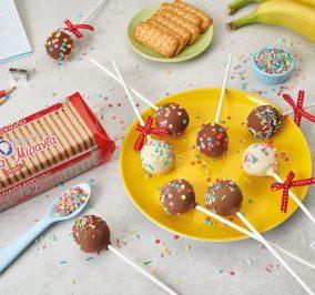 Banner for Cookie pops με μπισκότα Μιράντα