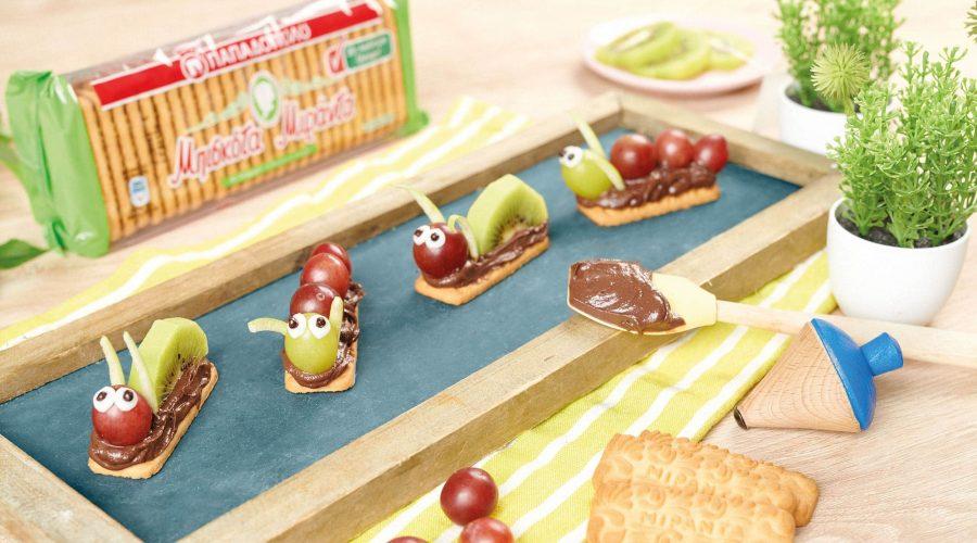 Top slider image for Μπουκίτσες με μπισκότα Μιράντα, ταχίνι κακάο και φρούτα