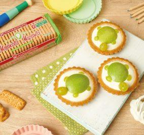Banner for Ατομικά ταρτάκια με μήλο-αχλάδι και μπισκότα Μιράντα
