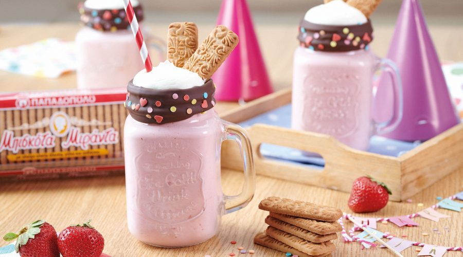 Top slider image for Milkshake φράουλα με μπισκότα Μιράντα