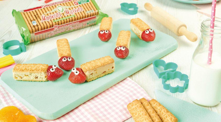 Top slider image for Μπάρες με μπισκότα Μιράντα και φράουλα